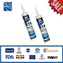 Silicone spray adhesive bath sealant