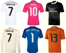 Top thailand quality thai 14-15 Real Madrid Karoos James Cristiano Ronaldo jersey