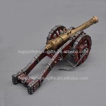 Miniature Realistic Artillery Weapon Metal Statue