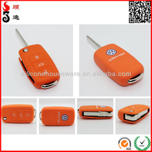 eco-friendly vw remote silicon key case for volkswagen