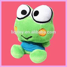 Hot sale cute stuffed soft plush green frog toys