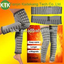Pain relief for arthritics comfortable tourmaline long knee brace KTK-S001LE