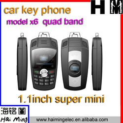 China mini car key phone x6 hot selling