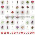 kelebek düğün beyaz gül toptancı için Türük pazarda yapay çiçek ve araya getirmektedir