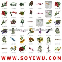 MINI ARTIFICIAL VEGETABLES AND FLOWERS Wholesaler from Yiwu Market for Artificial Flower & Bines