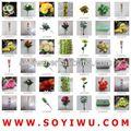 Azul e branco lírio atacadista de yiwu mercado para flores artificiais& bina
