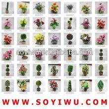 Secas de arranjos florais e atacadista de yiwu mercado para flores artificiais& bina