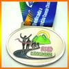 Custom Zinc Alloy Award Running Race Metal Medals Medallion With Ribbon