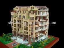 residential building with internal layout house model maker