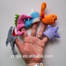 OEM finger puppet various sea animal,wholesale plush puppet toys