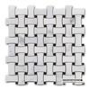 White Carrara Marble Dog Bone Non Slip Kitchen Mosaic Stone Floor Tiles Prices