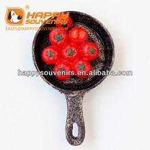 kinds of decorative magnet for fridge pan shaped