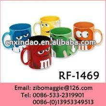 11oz U Shape Colored Porcelain Promotional M & M Beer Mug with Alibaba Express for Beer Mug