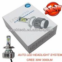 2014 NEW 3000LM 30W Car Cree LED Headlight, LED Headlights h7 h4 h11 9005 9006