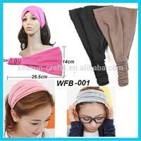 women sports sweatband elastic yoga headband