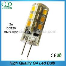 360 degree soft silicone high brightness bi pin 1.5w dc 12v smd g4 led