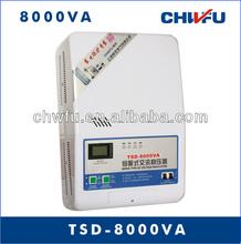 CE ROHS single phase 8000VA automatic 220VAC wall typegeneral electric voltage regulators