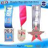 Custom marathon 26.2 star medals with lanyard