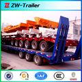 2014 preço de fábrica pesados tri- eixos ton 60 transportador semi reboque cama baixa/caminhão& trator reboque plataforma baixa boy baixo semi-reboque