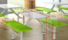 Plywood And Fiberglass School Cafeteria Furniture Tables And Bench
