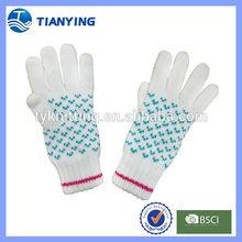 kid dobby knitted gloves