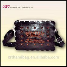 Small PVC & PU Leather Chinese Handbag for Teenage Girls