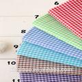 100% algodão xadrez camisas de tecido muitas cores para escolher