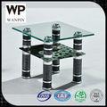 Redondo ou quadrado moderno pequeno mesa de vidro