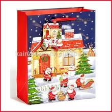 Fantastic decorative paper bags for Xmas & 3D christmas gift bag