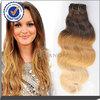 Factory wholesale brazilian virgin hair weave,good feelback body wave brazilian ombre hair weaves
