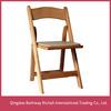 Padded Resin Folding Chair/folding resin wooden Chair