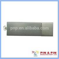 customized blank zinc alloy square plate nickel usb memory stick