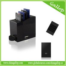 4 SD/SDHC/SDXC card reader with 3 hubs