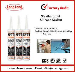310ml weatherproof neutral 738 Silicone Sealant