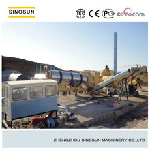 Portable bitumen mixing plant, mobile asphalt mixing plant