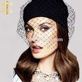 nueva moda de punto sombrero de venta al por mayor de las mujeres hotsale velo beanie