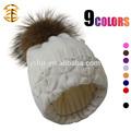 nuevo diseño de adolescentes de la niña y niño sombrero de punto con pieles de los animales de ganchillo hotsale al por mayor de rusia sombreros de invierno