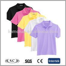 new fashion plain t - shirt / men polo tshirt / yellow custom t shirt