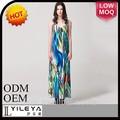 Neuesten design böhmischen stil damen smart neue modell casual dress frauen für beach-party guangzhou