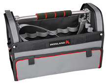 """OT-004 16"""" 600D polyester heavy duty canvas tool bag with steel handle"""