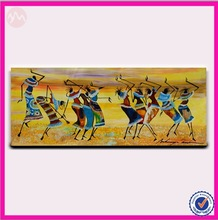 Newest modern abstract sex dancing African woman canvas oil painting