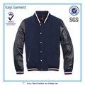Fábrica de couro direto manga marinha futebol americano casacos para homens
