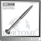 Reusable Construction Galvanized ground anchor (screw foundation)