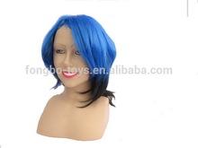 Blue short wig Wig Human hair wigs