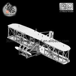 3D DIY Laser Cut Metal Puzzle Wright Flyer Model Toy