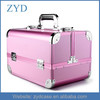 Aluminum rolling trolley makeup vanity train case cosmetic beauty box