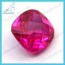 Wholesale Faceted Cushion Rose Synthetic ruby prices