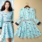 2015 HOT SALE Women Summer Dress, Women Spring Summer New Fashion simple dress, gray chiffon dress
