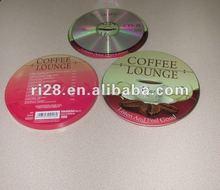Einzelner CD Kasten des runden Zinns