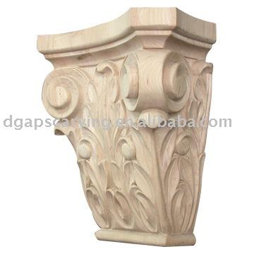 madera ménsulas talladas